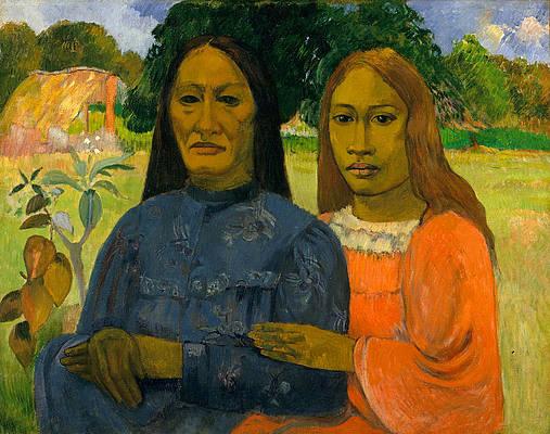 Two Women Print by Paul Gauguin