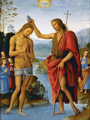 Baptism of Christ Print by Pietro Perugino