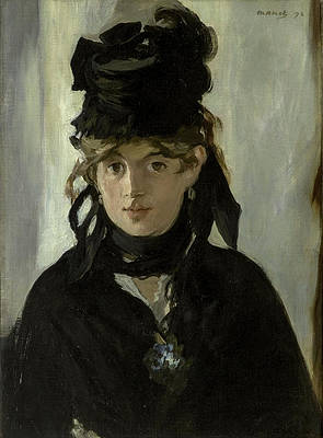 Berthe Morisot With a Bouquet of Violets Print by Edouard Manet