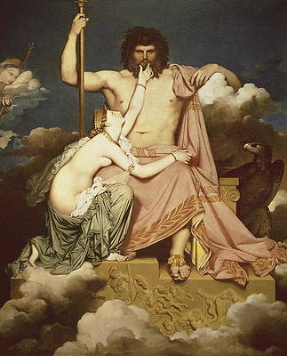 Jupiter and Thetis Print by Jean-Auguste-Dominique Ingres