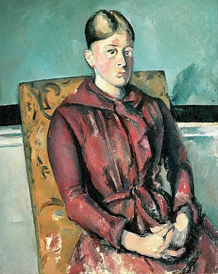 Madame Cezanne In A Yellow Armchair Print by Paul Cezanne