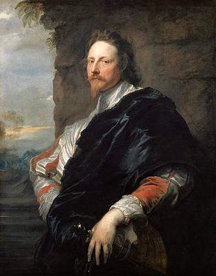Nicolas Lanier Print by Anthony van Dyck