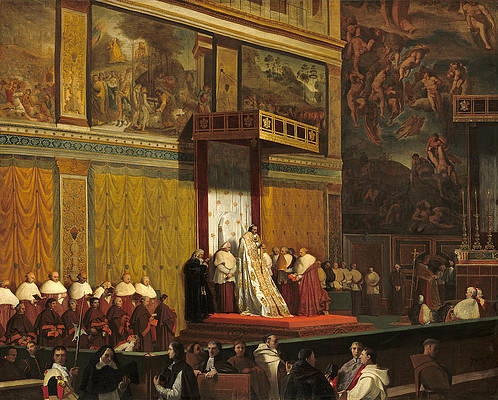 Pope Pius VII in the Sistine Chapel Print by Jean-Auguste-Dominique Ingres