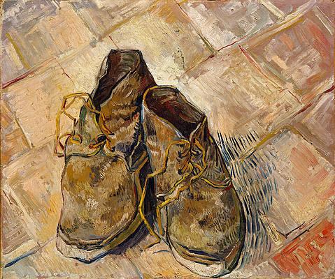 Shoes Print by Vincent van Gogh