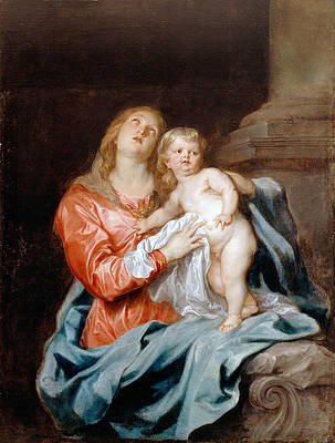 The Madonna and Child Print by Anthony van Dyck