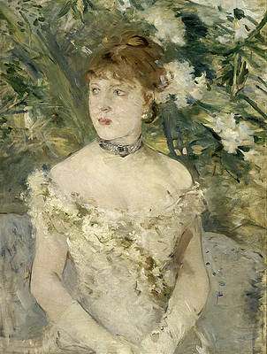 Young Girl in a Ball Gown Print by Berthe Morisot