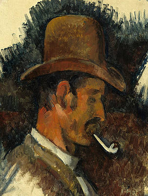 Man with Pipe Print by Paul Cezanne
