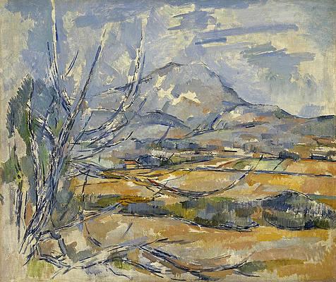 Montagne Sainte-Victoire Print by Paul Cezanne