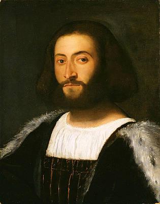 Portrait of a Man Print by Titian