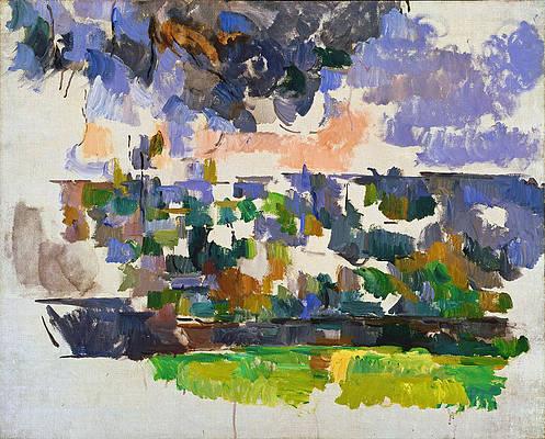 The Garden at Les Lauves Print by Paul Cezanne