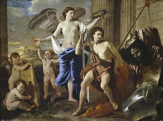 The Triumph of David Print by Nicolas Poussin