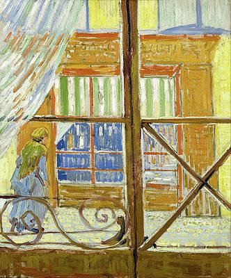 View of a butcher's shop Print by Vincent van Gogh
