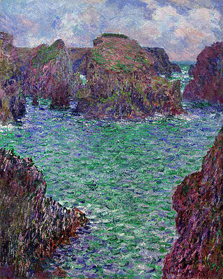 Artist Claude Monets Storm at Belle Isle Painting Print Design Sports Bag