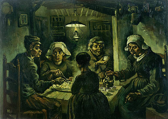 The Potato Eaters Print by Vincent van Gogh