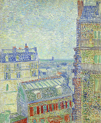 View from Theo's apartment Print by Vincent van Gogh
