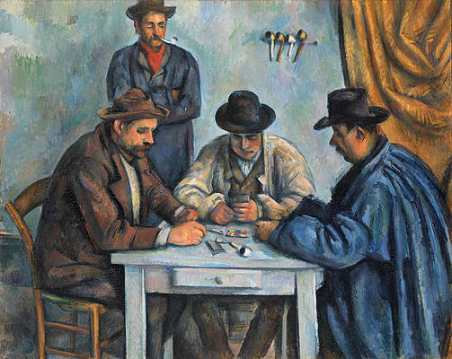 The Card Players Print by Paul Cezanne