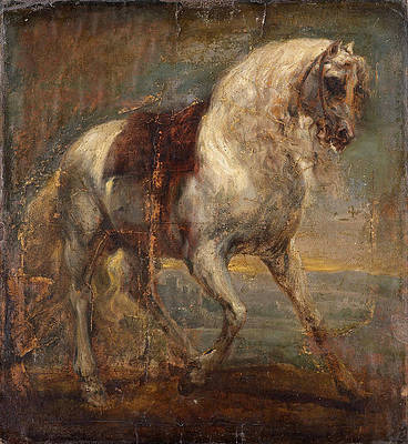 A Grey Horse Print by Anthony van Dyck