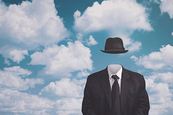 Rene Magritte Wall Art - Photograph - A Riff on Magrittes The Pilgrim by Scott Norris