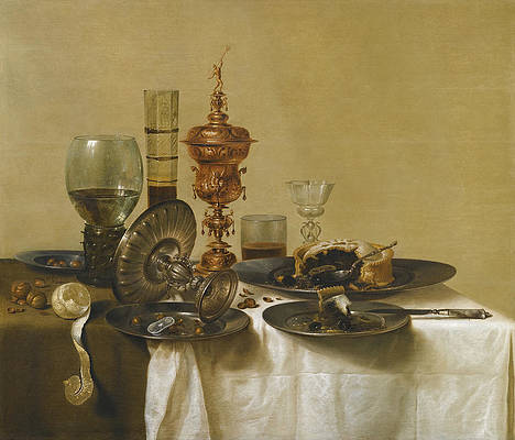 A Still Life Print by Willem Claeszoon Heda