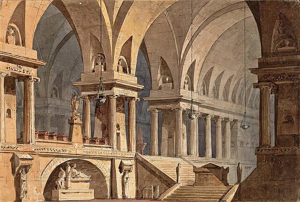 A Vast Necropolis Print by Simon Quaglio