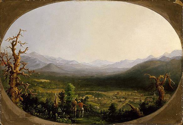 A View of Asheville. North Carolina Print by Robert Scott Duncanson