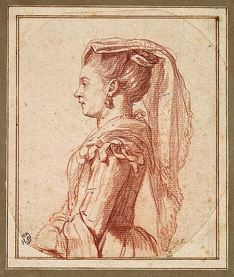 A Young Woman of Frascati Print by Jacques-Louis David