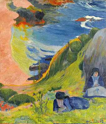 Above the Sea Print by Paul Gauguin