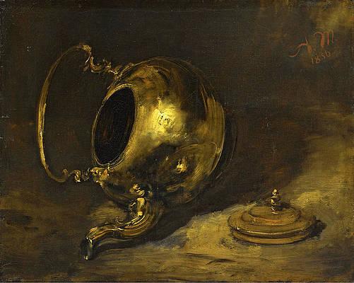 Upturned Teapot Print by Adolph von Menzel