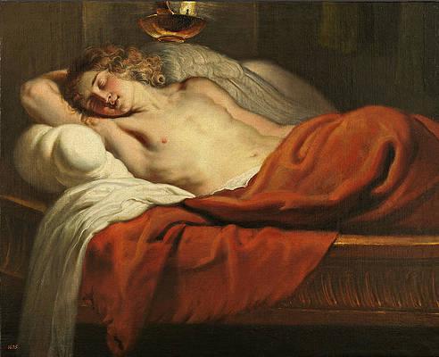 Amor Asleep Print by Erasmus Quellinus II