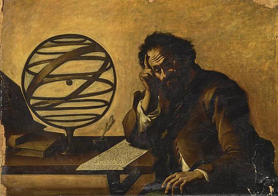 Archimedes Print by Attributed to Mattia Preti