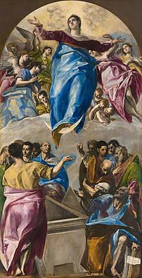 Assumption of the Virgin Print by El Greco