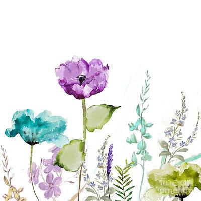 Purple Flower Paintings Fine Art America
