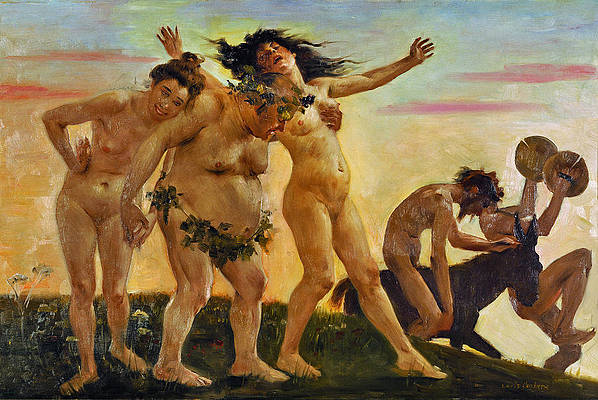 Baccants Returning Home Print by Lovis Corinth