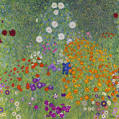 Bauerngarten. Blumengarten Print by Gustav Klimt