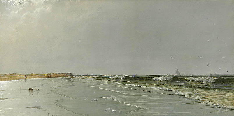 Beach at Little Boar's Head. New Hampshire Print by Alfred Thompson Bricher