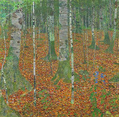 Birch Forest Print by Gustav Klimt