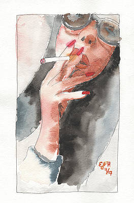 Smoking Girl Paintings Page 3 Of 3 Fine Art America