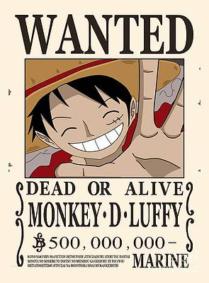 Monkey D Luffy Art Fine Art America