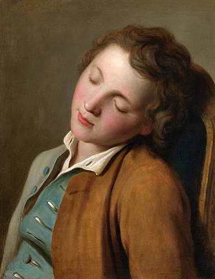 Boy Sleeping Print by Pietro Rotari