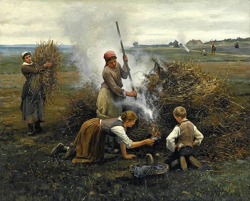 Burning Brush Print by Daniel Ridgway Knight