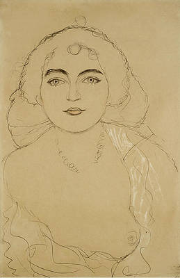 Bust of a Woman Print by Gustav Klimt