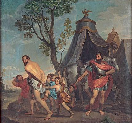 Camillus and the Schoolmaster of Falerii Print by Domenico Corvi