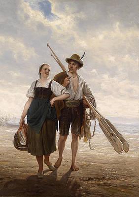 Chiemsee fisher Print by Karl Raupp