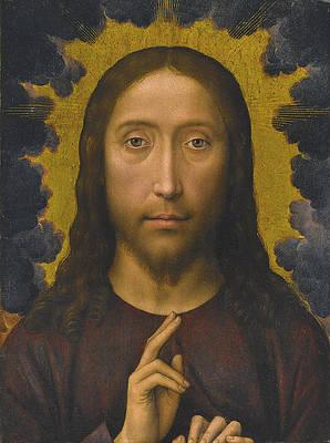 Christ Blessing Print by Hans Memling
