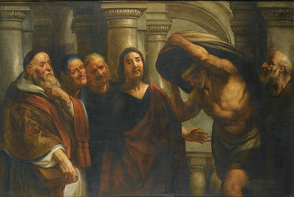 Christ healing the Paralytic at the Pool of Bethesda Print by Jacob Jordaens and Workshop