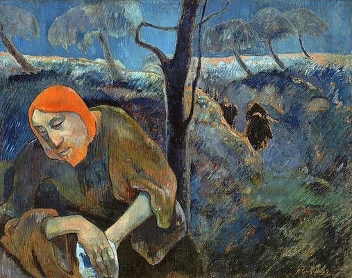 Christ in the Garden of Olives Print by Paul Gauguin
