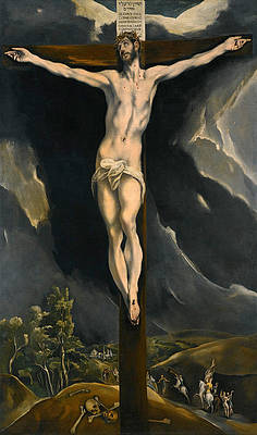 Christ on the Cross Print by El Greco