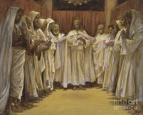 Twelve Disciples Painting - Christ with the twelve Apostles by Tissot