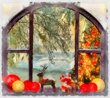 Funny Christmas Paintings Fine Art America