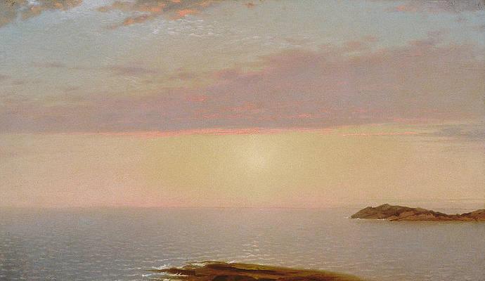 Coastal Sunset Print by John Frederick Kensett